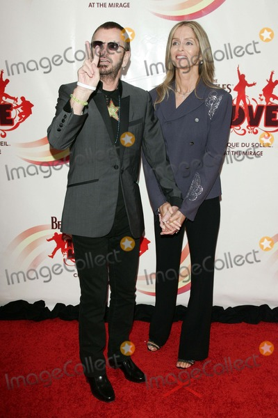 Ringo Starr,Barbara Bach,Beatles,Cirque du Soleil,The Beatles Photo - The Beatles LOVE By Cirque Du Soleil Gala Premiere