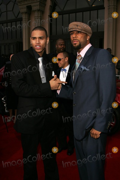 Chris Brown,Common,Chris Browning Photo - The 37th Annual NAACP Image Awards Arrivals