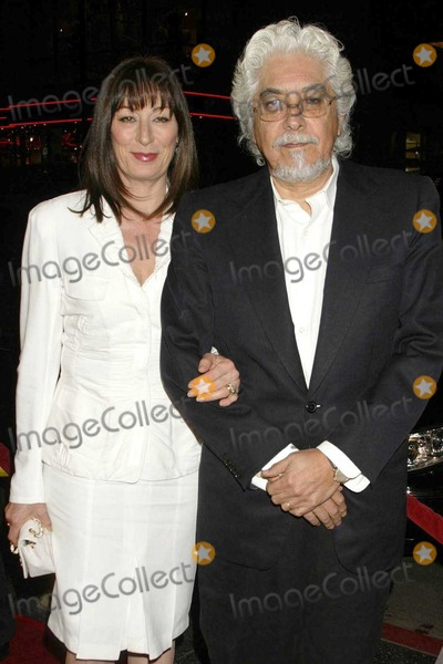 Anjelica Huston and husband
