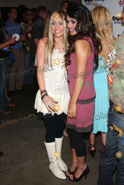 Vanessa ANNE Hudgens,Miley Cyrus Photo - The Radio Disney Totally 10 Birthday Concert
