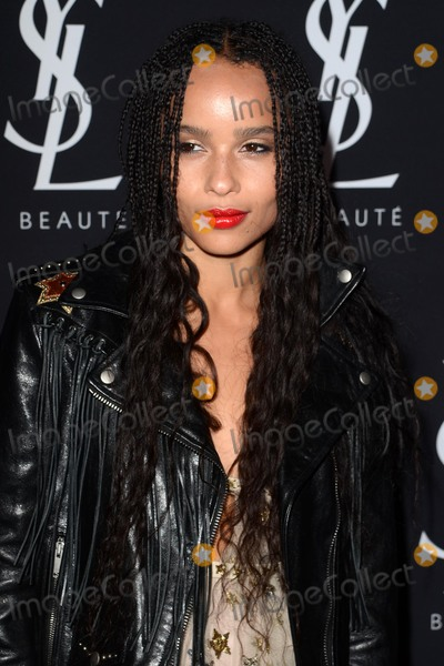 Photos From Zoe Kravitz Celebrates Her New Role With Yves Saint Laurent Beauty
