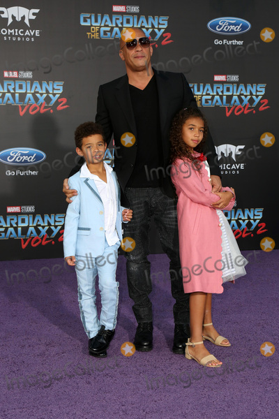 Sinclair,Vin Diesel Photo - Guardians of the Galaxy Vol 2 Los Angeles Premiere