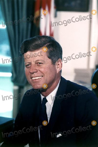 John F. Kennedy,Kennedy,President John F. Kennedy,White House Photos - Portrait Photograph of United States President John F Kennedy taken at the White House in Washington DC on July 11 1963Photo by Cecil StoughtonWhite HouseCNP-PHOTOlinknet