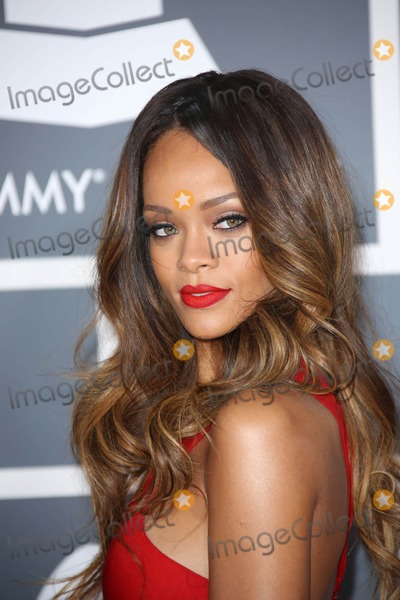 Rihanna,Grammy Awards Photos - Rihanna   at the 55th Grammy Awards-Arrivals  held at the Los Angeles Convention Center