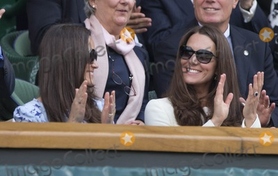 Kate Middleton,Pippa Middleton Photo - Celebs at Wimbledon