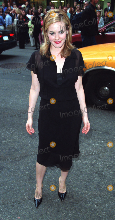 ALISIA SILVERSTONE Photo - Actress ALISIA SILVERSTONE attending the opening night of The Elephant Man on Broadway New York April 14 2002