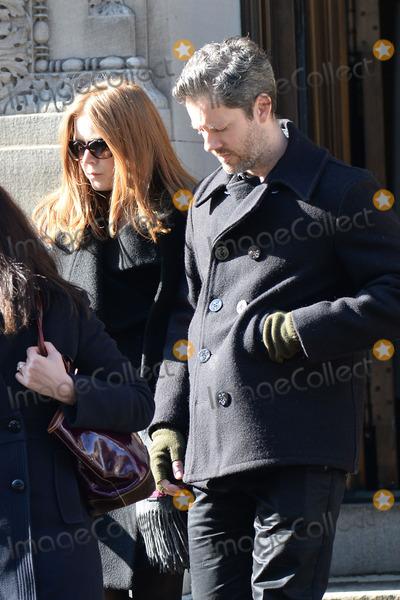 Philip Seymour Hoffman Photo - February 7 2014 New York CityAmy Adams attending Philip Seymour Hoffmans funeral at St Ignatius Loyola Church in Manhattan on February 7 2014 in New York City