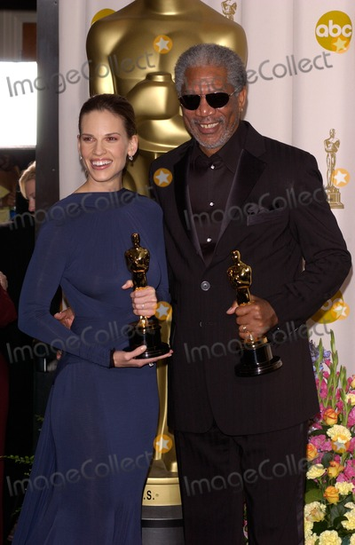 Hilary Swank,Morgan Freeman Photo - Academy Awards