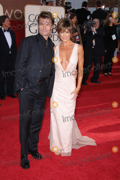 Harry Hamlin,Lisa Rinna,Lisa Harris Photo - Golden Globe Awards
