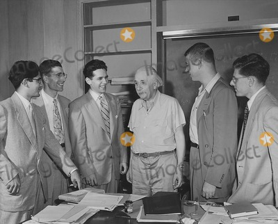 Albert Einstein Photo - Dr Albert Einstein and His Students Princeton NJ Early 1930s Globe Photos Inc