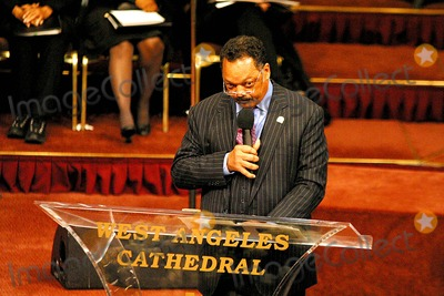 Johnnie Cochran,Jesse Jackson,Jacksons Photo - Funeral of Johnnie L Cochran Jr