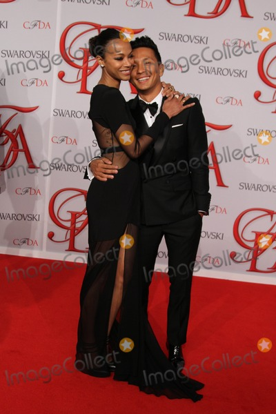 Zoe Saldana,Prabal Gurung Photo - The 2012 Cfda Awards-nyc