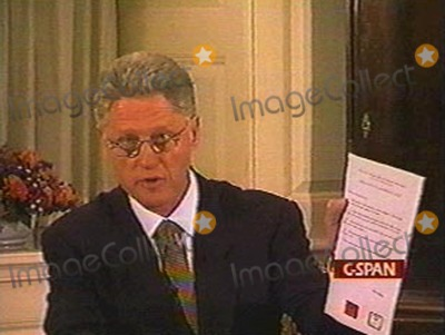 Monica Lewinsky Photo -  Bill Clinton Addresses the Nation Regarding His Relationship with Monica Lewinsky Supplied by JkelGlobe Photos NC