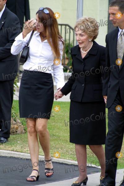 Nancy Reagan,President Ronald Reagan,Ronald Prescott Reagan,Ronald Reagan,Patti Davis,THE GATES,Former President Ronald Reagan Photo - Ronald Reagan Funeral
