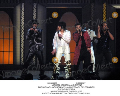 NSYNC Photo - Sd010907 Michael Jackson and Nsync the Michael Jackson 30th Anniversary Celebration the Solo Years Madison Square Gardennyc Photojohn BarrettGlobe Photos Inc