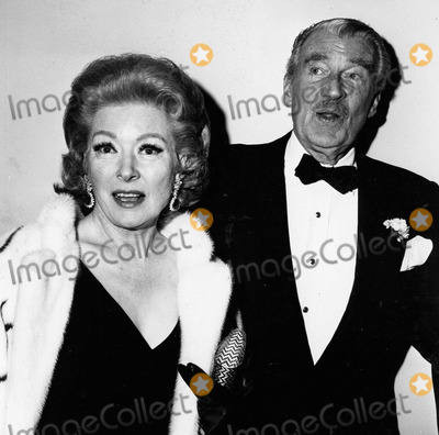 Greer Garson,Walter Pidgeon Photos - Greer Garson Walter Pidgeon at the National Theatre Opening in Los Angeles 1979 Supplied by Globe Photos Inc