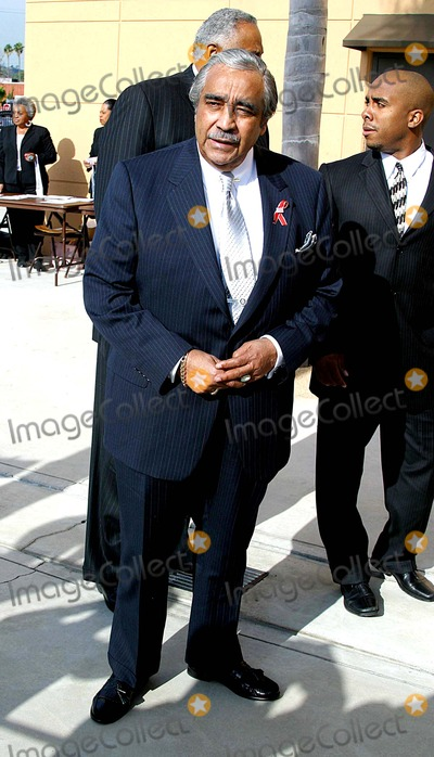 Johnnie Cochran,Charles Rangel Photo - Funeral of Johnnie L Cochran Jr