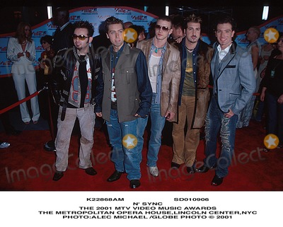 NSYNC Photo - Sd010906 Nsync the 2001 Mtv Video Music Awards the Metropolitan Opera Houselincoln Centernyc Photoalec Michael Globe Photo