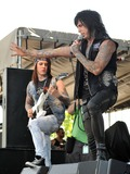 Ronnie Radke Photo - 19 May 2012 - Columbus OH -  Lead vocalist RONNIE RADKE and lead guitarist JACKY VINCENT of the band FALLING IN REVERSE performs at Day 1 of the  Rock On The Range Festival held at Crew Stadium Photo Credit Jason L NelsonAdMedia