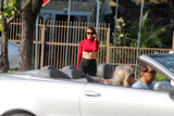 Alicia Arden Photo - Alicia Ardenthe General Hospital and Baywatch actress is spotted wearing a risque under-boob shirt in Hollywood CA 06-11-17