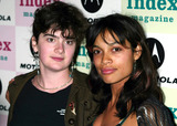 JT LeRoy Photo - Gaby Hoffman and Rosario Dawson at Jt Leroy and Friends at the Public Theater in New York City on April 17 2003 Photo Henry McgeeGlobe Photos Inc 2003 K30133hmc Motorola Present an Evening with Index Magazine