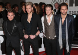 Adam Pitts Photo - Feb 19 2014 - London England UK - Brit Awards 2014 O2 Arena LondonPictured (L to R) Adam Pitts Ryan Fletcher Joel Peat and Andy Brown of Lawson