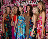Theodora Richards Photo - (L-R) Rachel Chandler Guinness Alexandra Richards Bianca Balti Lauren Remington Platt and Theodora Richards at the launch of Salvatore Ferragamos Signorina fragrance at Palazzo Chupi on March 20 2012 in New York City