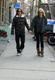 ANTHONY KEDIS Photo - Anthony Kedis of the Red Hot Chilly Peppers out walking with a friend in Soho Manhattan