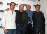 David Jones Photo - Patrick Stewart Kyle MacLachlan Aidan Gillen and director David Jones at the press call during the rehearsals for new Roundabout Theatres Play The Caretaker New York September 23 2003