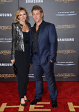 LUKE HEMSWORTH Photo - Actor Luke Hemsworth  wife Samantha at the Los Angeles premiere of  The Hunger Games Mockingjay - Part 2 at the Microsoft Theatre LA Live November 16 2015  Los Angeles CAPicture Paul Smith  Featureflash