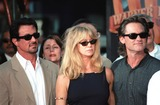 Goldie Photo - 30SEP99  Actors SYLVESTER STALLONE (left) GOLDIE HAWN  KURT RUSSELL at Manns Chinese Theatre in Hollywood where Warner Bros chairmen  co-CEOs ROBERT A DALY  TERRY SEMEL had their hand  footprints set in cement                           Paul Smith  Featureflash