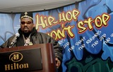 Afrika Bambaataa Photo - Afrika Bambaataa makes a few statements during the Smithsonians Museum of American Historys press conference launching their first ever hip-hop national collecting initiative on February 28 2006 in New York City