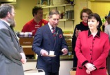 David Jones Photo - David Jonesalpha 046974 010302 Prince Charles the Prince of Wales Opening the New Princes Trust Cymru Office with a Cup of Tea Looking For a Vacant Chair -the Phoenix Centre Swansea Wales Credit David JonesalphaGlobe Photos Inc