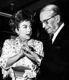Maurice Chevalier Photo - Joan Crawford and Maurice Chevalier 1973 1970s Lisa HoffmanGlobe Photos Inc