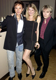 Nicky Haslam Photo - Dave Benettalpha 049265 08102002 Andy Wong with Nick Rhodes and Girlfriend Meridith -Nicky Haslam Was Thrown a Party by Mrs Ella Kracner at Sakusam the New Restaurant in Albermale Street London Photo Bydave BenettalphaGlobe Photos Inc 2002