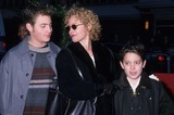 Amy Irving Photo - Amy Irving with Sons Max Samuel Spielberg Gabriel Davis Barreto Harry Potter and the Sorcerers Stone Premiere at Ziefgeld Theatre 2001 K23347kj Photo by Kelly Jordan-Globe Photos Inc