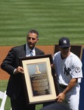 Andy Pettitte Photo - New York Yankees Retire Andy Pettitte Number46 on Sunday August 23rd 2015 Jose Posada Number 20 Was Also Retired on Saturday August 22nd 2015 Photo by William Regan- Globe Photos Inc