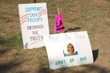 Cindy Sheehan Photo - Cindy Sheehan Whos Son Casey Was Killed in the War with Iraq Holds a Candlelight Vigil to Protest the War Outside President Bush S Ranch in Crawford Texas 07-17-2007 Photo by Jeff Newman-Globe Photos Inc