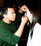 Ai Tominaga Photo - Fashion 2003 - Bryant Park - Tommy Hilfiger - Backstage - Ai Tominaga 9182003 Photo Byken RummentsGlobe Photos Inc 2003 Models