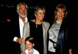 Kenny Rogers Photo - Kenny Rogers with His Wife Marianne Gordon  Son Christopher Cody Rogers and Daughter Carole Lynne 1987 14504 Photo by Phil Roach-ipol-Globe Photos Inc