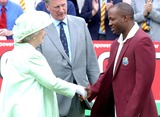 Brian Lara Photo - No Uk Rights Until 220804 A15181 AlphaGlobe Photos Inc 055477 07222004 Britains Queen Elizabeth Ii Meets with West Indies Captain Brian Lara During the First Day of the Npower Test Against the Lords Cricket Ground in London