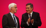 Alistair Darling Photo - Alistair Darling Mp  Gordon Brown Mp Chancellor of the Exchequer  Prime Minister K63328alst Addresses the Labour Party Conference 2009 at the Brighton Centre in Brighton England 09-27-2009 Photo by Dave Gadd-allstar-Globe Photos Inc