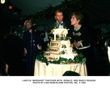 Ronald Reagan Photo -  Lady Margaret Thatcher Pres Ronald Reagan and Nancy Reagan Photo by Lisa RoseGlobe Photosinc