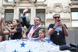 Abby Wambach Photo - Hope Solo Abby Wambach and NY Governor Andrew Cuomo at Ticker Tape Parade For the World Cup Champions Us Womens Soccer National Team Canyon of Heroes NYC July 10 2015 Photos by Sonia Moskowitz Globe Photos Inc