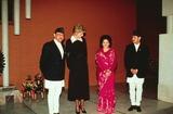 King Queen Photo - Alpha M013128 03_03_93 Princess Diana with the King  Queen of Nepal  Crown Prince Dipendra Kathmandu Nepal Credit AlphaGlobe Photos Inc