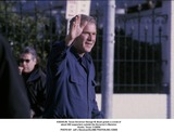 George Bush Photo -  Texas Governor George W Bush Greets a Crowd of About 300 Supporters Outside the Governors Mansion Austin Texas 112500 Photo by Jeff J NewmanGlobe Photosinc