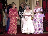 Queen Beatrix Photo - Alpha 048228 17062002 Queen Beatrix of the Netherlands Queen Sophia of Spain the Queen  Queen Margrethe of Denmark -Golden Jubilee Dinner Party For European Royals at Windsor Castle in Windsor Berkshire Credit AlphaGlobe Photos Inc