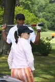 Sale Johnson Photo - Ahmad Rashad and Wife Sale Johnson at Ahmad Rashad Golf Classic to Benefit White Plains Hospital Center at Quaker Ridge Golf Club in Scarsdale NY 06-28-2010 Photo by John BarrettGlobe Photos Inc2010