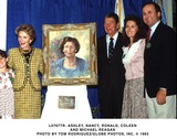 Ronald Reagan Photo -  Ashley Nancy Ronald Colleen and Michael Reagan Photo by Tom RondriguezGlobe Photos Inc
