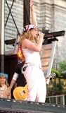 Hilary Duff Photo - Hilary Duff Performing on Abc Good Morning Americas 2004 Summer Concert Series at Bryant Park in New York City on July 16 2004 Photo by Ken BabolcsayipolGlobe Photosinc Hilary Duff